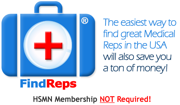 FindReps - Find Great Medical Independent Sales Reps without recruiter fees.