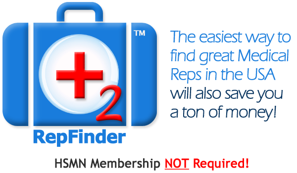 RepFinder 2 - Find Great Medical Independent Sales Reps without recruiter fees.